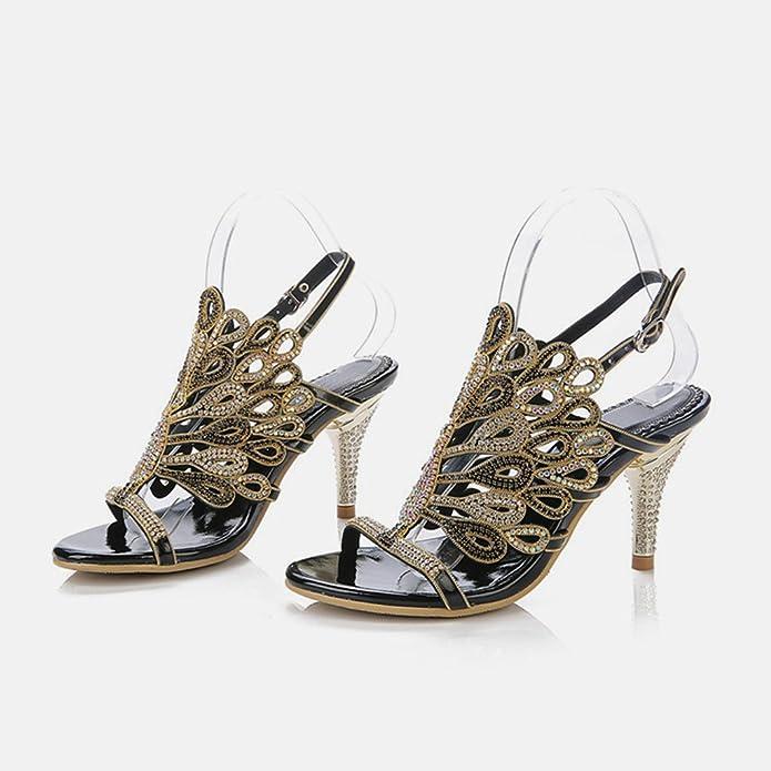 Dress Peacock Glitter Evening Rhinestone Women's Wedding Doris Shoes BoxrCed