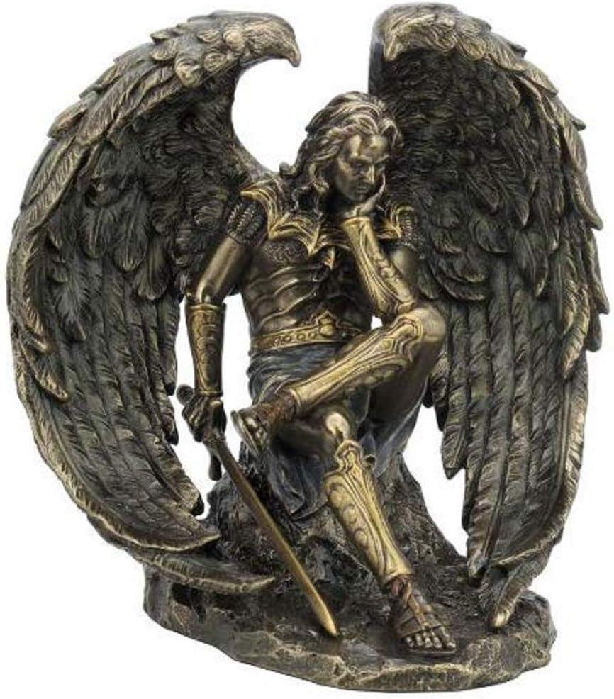VERONESE 6.5 Inch Lucifer Fallen Angel Statue Satan Evil Devil Decor Figurine Diablo