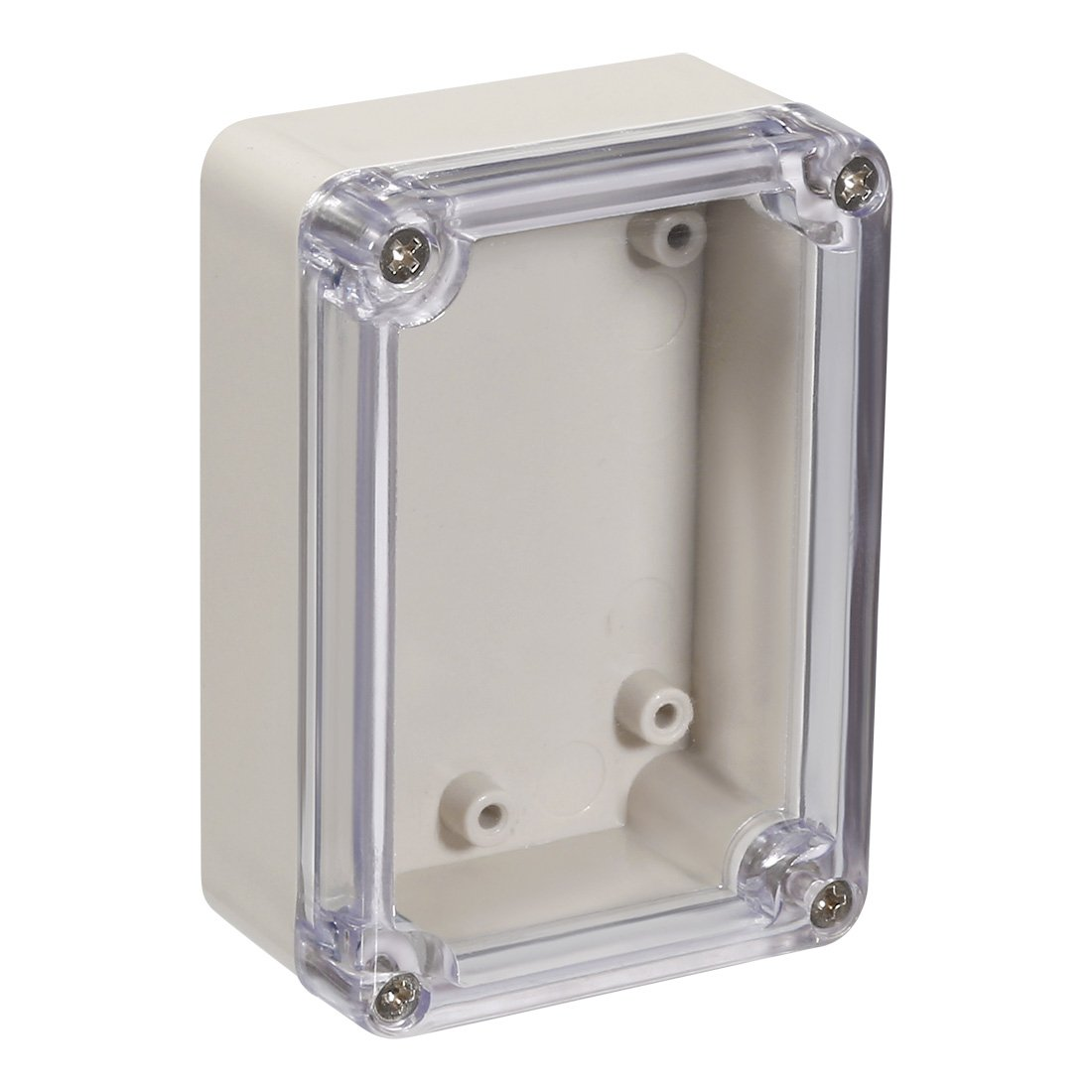 sourcing map 83x58x33mm//3.27x2.28x1.3inch Wateproof Electronic ABS Plastic DIY Junction Project Box Enclosure Case Outdoor//Indoor with Clear Cover