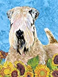 Caroline's Treasures SS4121CHF Wheaten Terrier Soft Coated Flag Canvas, Large, Multicolor