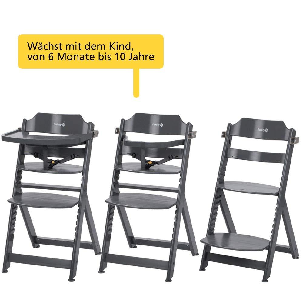 6 Monaten bis ca aus massivem Buchenholz Ohne Tischchen max. 30 kg Buchenholz 10 Jahre Safety 1st Timba Mitwachsender Hochstuhl hohe R/ückenlehne wei/ß ab ca