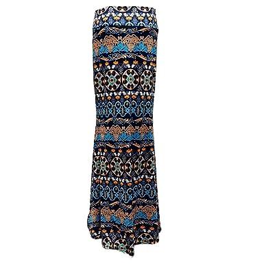 HCFKJ Faldas Mujer Cortas Falda De Mujer Gypsy Long Jersey Bodycon ...