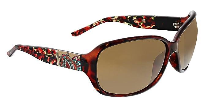 9b151351b5 Vera Bradley Women s Ginnie Polarized Wrap Sunglasses Desert Floral 64 mm