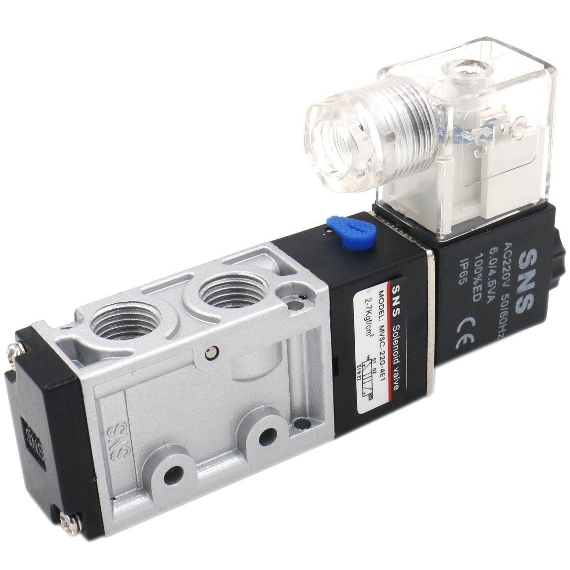 Heschen Electrical Pneumatic Solenoid Valve MVSC-220-4E1 220VAC PT1/4 5 Way 2 Position CE OEM