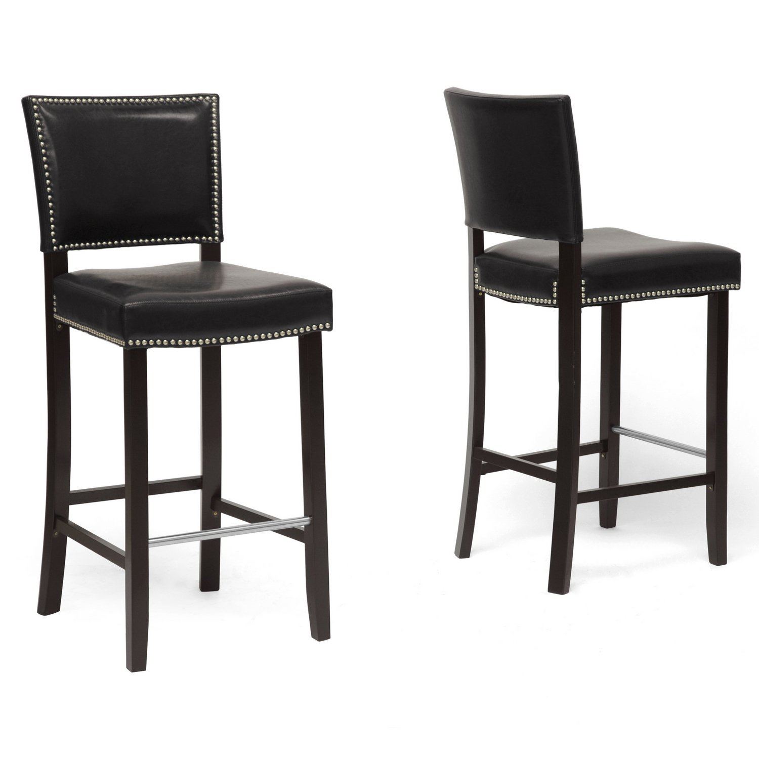 Amazon.com Baxton Studio Aries Modern Bar Stool with Nail Head Trim White Set of 2 Kitchen \u0026 Dining  sc 1 st  Amazon.com & Amazon.com: Baxton Studio Aries Modern Bar Stool with Nail Head ... islam-shia.org
