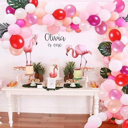Party! 6 Dark Pink Large Latex Balloons Wedding Birthday