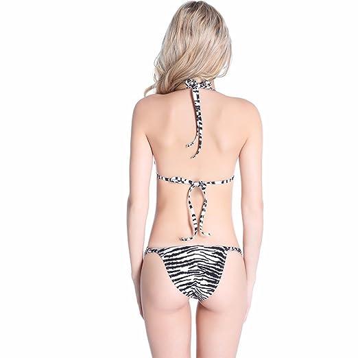 cae8a894453 Women's Swimsuit Fashion Wild Zebra Hardcore A Shorts Bikini,2XL,All Code:  Amazon.co.uk: Clothing