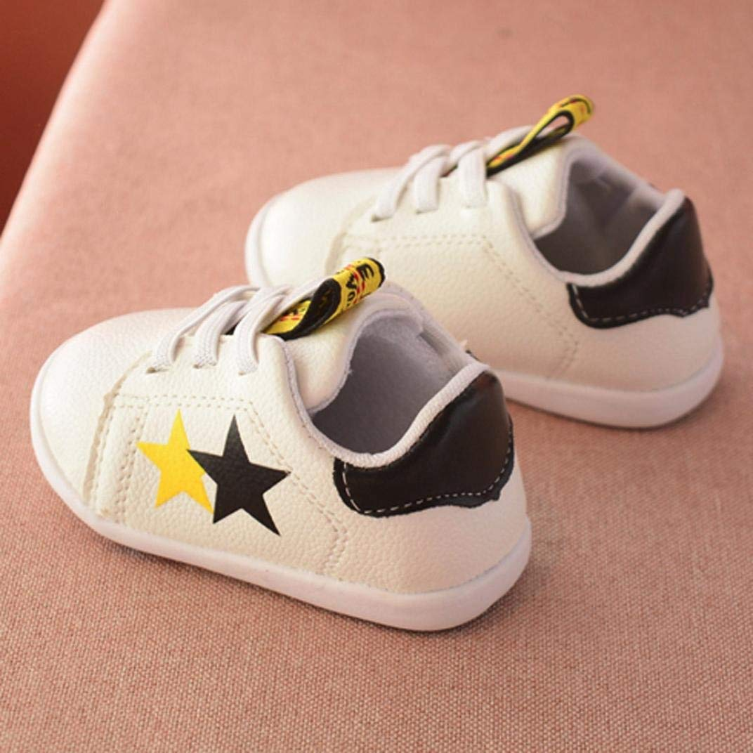 LYLIFE Fashion Shoes,Toddler Baby Girls Star Print Leather Shoes