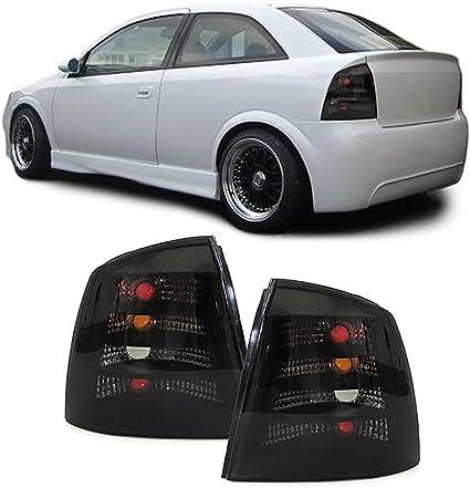 Carparts Online 27519 Klarglas Rückleuchten Schwarz Auto