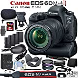Canon EOS 6D Mark II DSLR Camera Kit with 24-105mm IS STM Lens + Canon BG-E21 Grip/Power Bundle