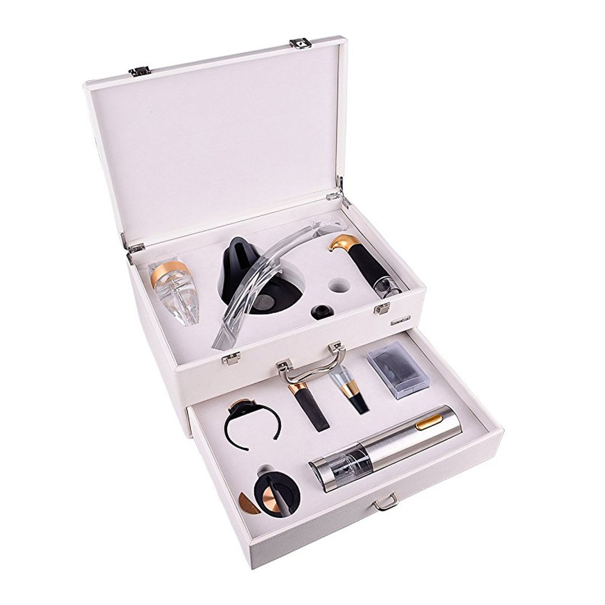 YIMI Luxury European-Style Double-Layer Electric Opener wine 11 Sets Of Exquisite Gift Boxes. YMD-12XC (white)
