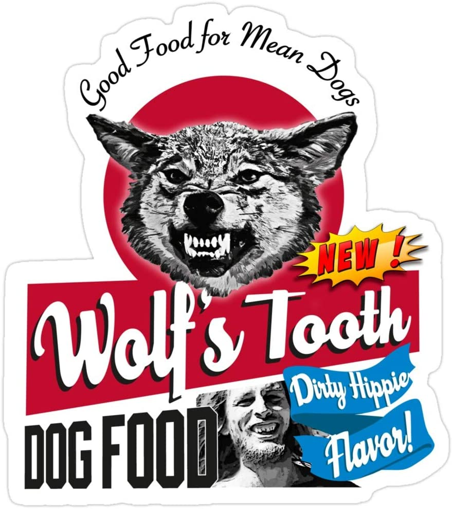 BreathNenStore Once Upon a time in Hollywood Wolf's Tooth Dog Food Dirty Hippie Flavor Stickers (3 Pcs/Pack) 8938115522039