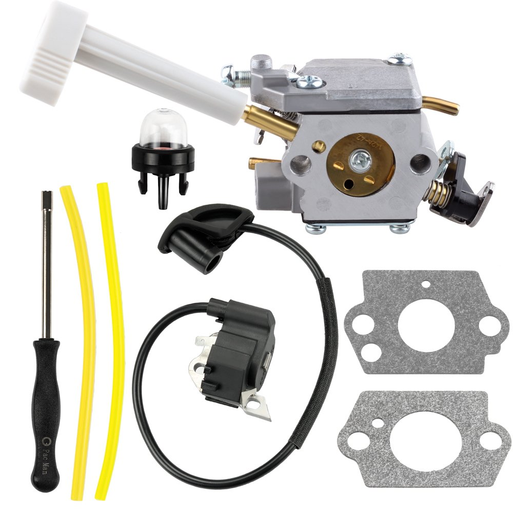 Harbot 308054079 Carburetor + 291424001 Ignition Coil Module Tool for Ryobi RY08420 RY08420A Backpack Blower