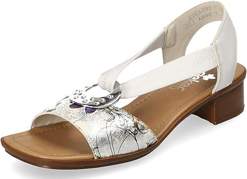 Rieker Damen Komfort Riemchen Sandaletten Weiß Gr. 37 KUIMS