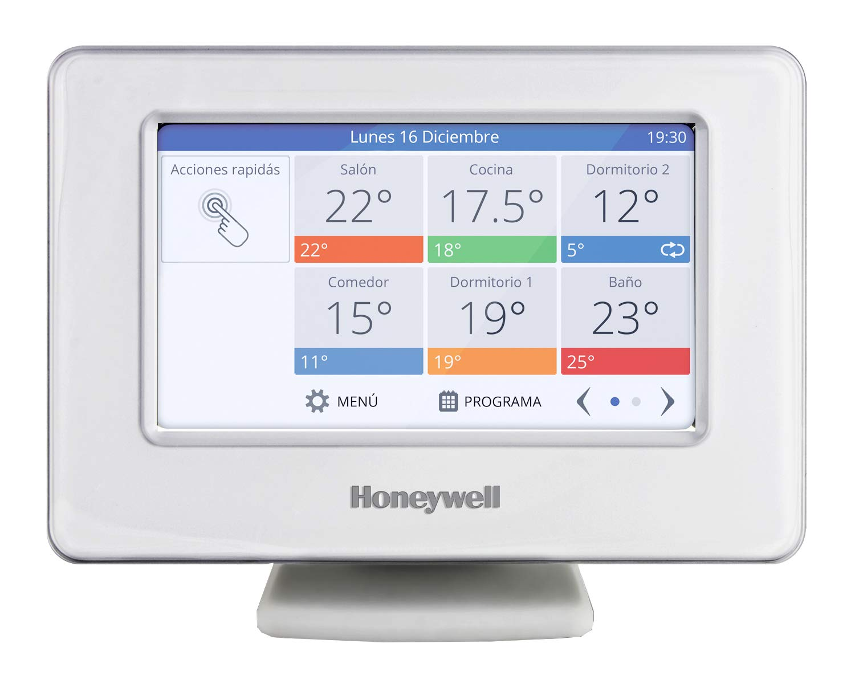 Bianco Honeywell Home THR99C3110 Termostato programable inteligente de zonificaci/ón inal/ámbrico