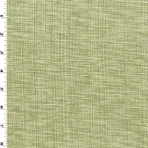 Moss Green/White Texture Basketweave Home Decorating Fabric, Fabric by The Yard ()