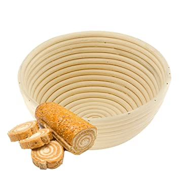 13bc7de48e11b Amazon|Fortem 籐製醗酵カゴ パン作りの小道具 洗えるバスケット 裏地 ...