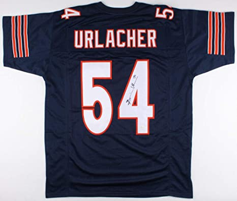 3debe709646 Image Unavailable. Image not available for. Color  Brian Urlacher Chicago  Bears Signed Autographed Blue Custom Jersey JSA 141118