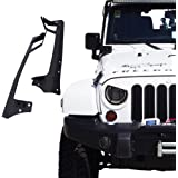"Xprite 2007 - 2017 Jeep Wrangler JK JKU Windshield Mounting Bracket W/ Lower Corner Brackets for 50"" Inch LED Light bar"