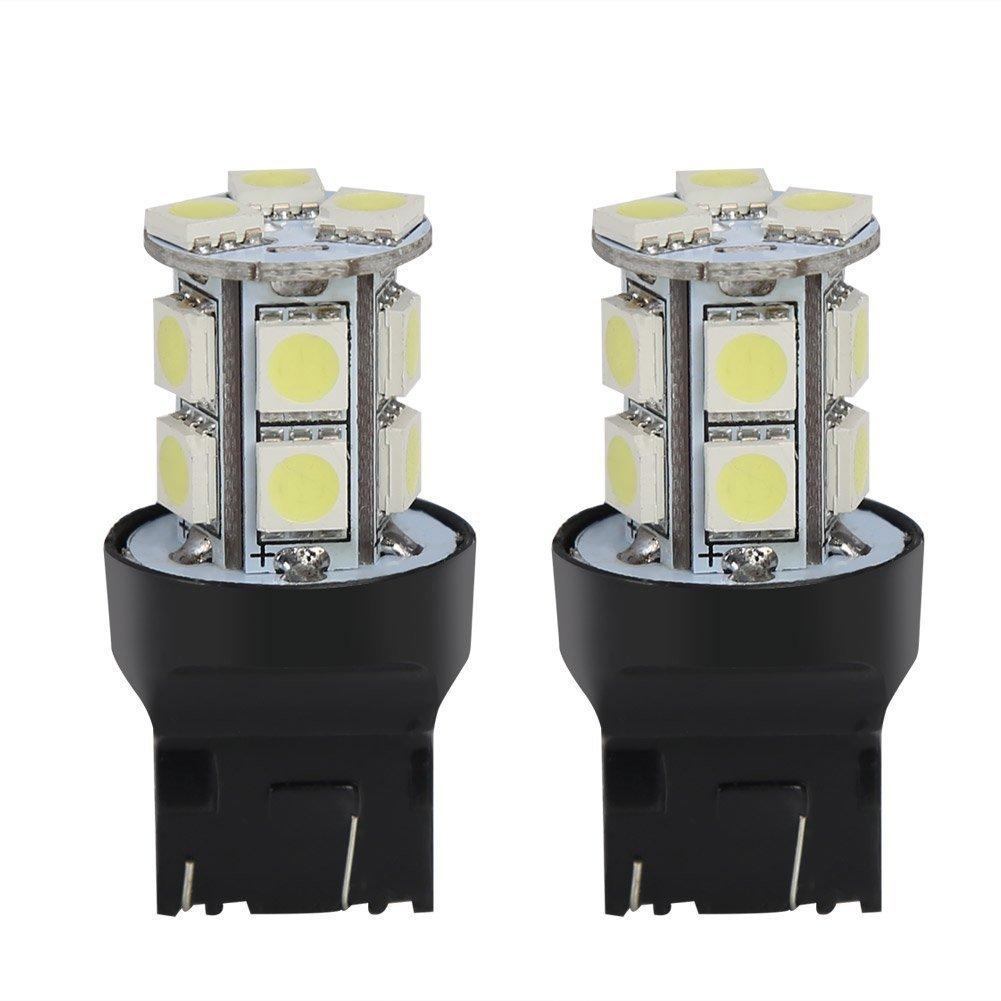 KaTur 2 Pcs T20 W21/5 W 7443 13 SMD 5050 LED Blanc Voiture Auto Source de Lumiè re de Frein de Parking Inverse Ampoule Lampe