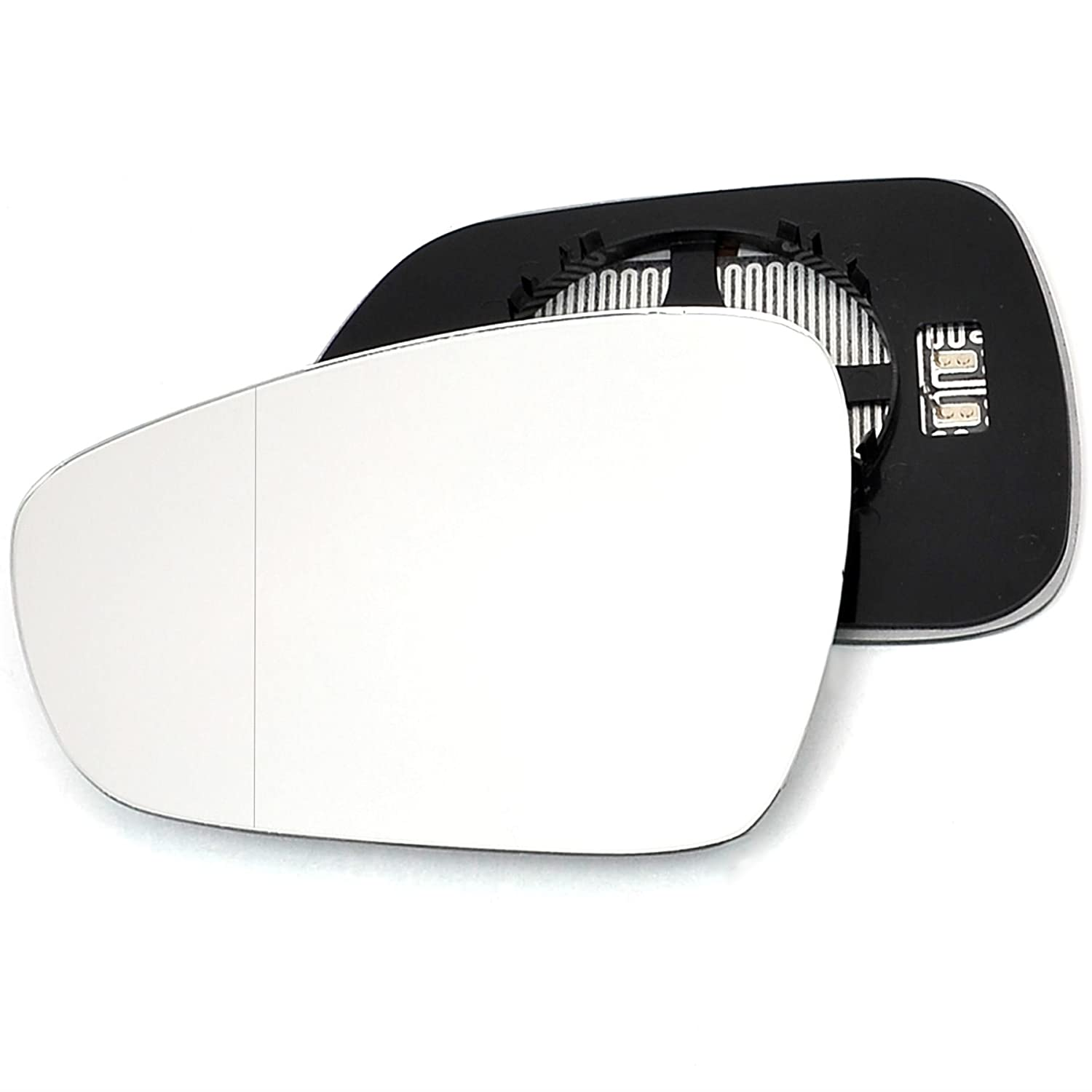 Clip On Passenger left hand side Heated wing door Silver mirror glass with backing plate #C-SHY//L-SKACO11