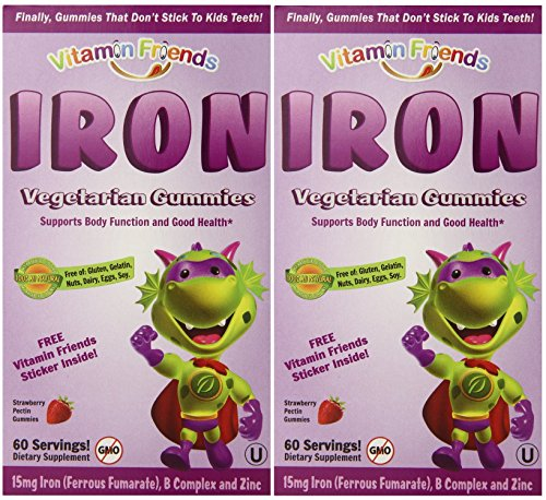 Vitamin Friends Iron Diet Supplement, 60 Gummies (2 Pack) by Vitamin Friends