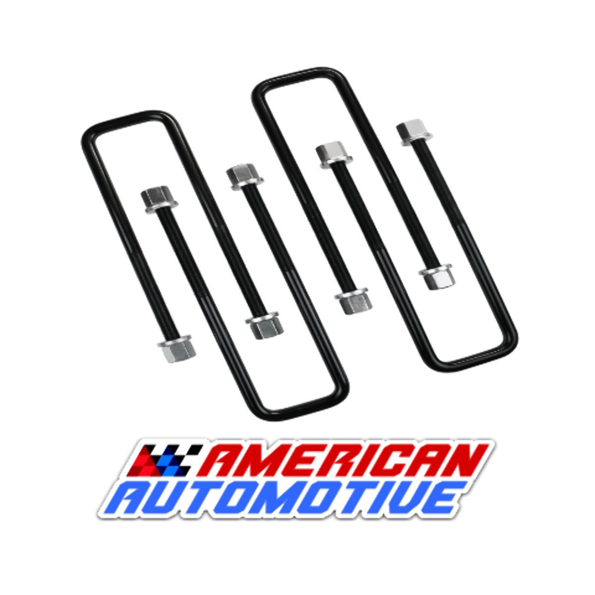 American Automotive UBLT12-388 Square U Bolts 10'' Extra Long Certified Oem Material, Set of 4