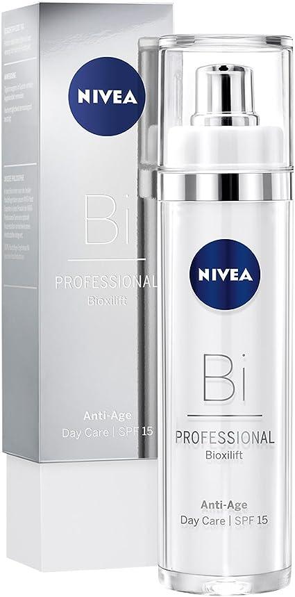 NIVEA PROFESSIONAL Bioxilift, crema facial con protector solar 15, crema reafirmante de día que activa la producción de colágeno, crema facial antiedad para reducir las arrugas, 1 x 50 ml: Amazon.es: Belleza