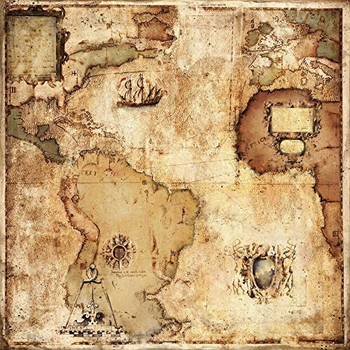 HeritageArtDecor Map of Discovery - Fine Art Print on Canvas Home Decor Print 18 x 18 Inch - Home Decor Wall Art Painting Canvas Print ONLY -NO Frame