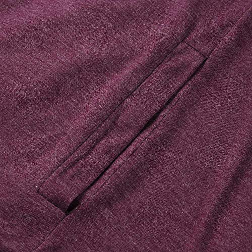Tops Fashion Sweater Patchwork Sleeve Loose Warm Knitted Cardigan T DOLDOA Long Shirt Casual Womens Purple g15xwxpB