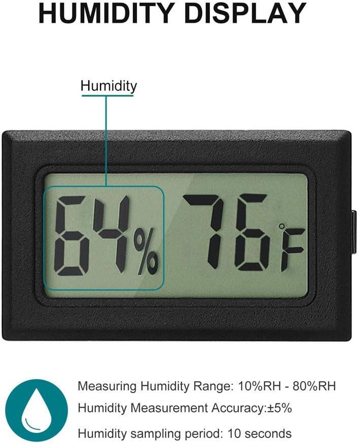Garden Small Digital Electronic Temperature Humidity Meters Gauge Indoor LCD Display Fahrenheit for Humidors Cellar Mason Jar Greenhouse Linkhood Mini Thermometer Hygrometer Fridge