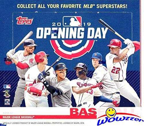 (2019 Topps Opening Day MLB Baseball MASSIVE Factory Sealed HOBBY Box with 36 Packs & 252 Cards! Includes 1 Insert in EVERY PACK! Look for Autos of Mike Trout, Juan Soto, Aaron Judge & More! WOWZZER!)