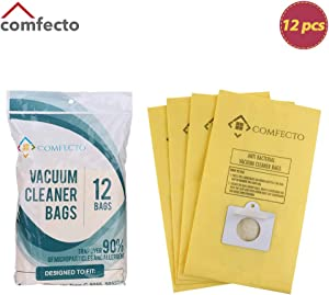Comfecto Set of 12 Premium Vacuum Bags for Kenmore Canister Type C, Panasonic Type C5, 50558 50557 5055…