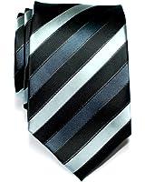 Retreez Three-Colour Stripe Woven Microfiber Men's Tie Necktie - Various Colors