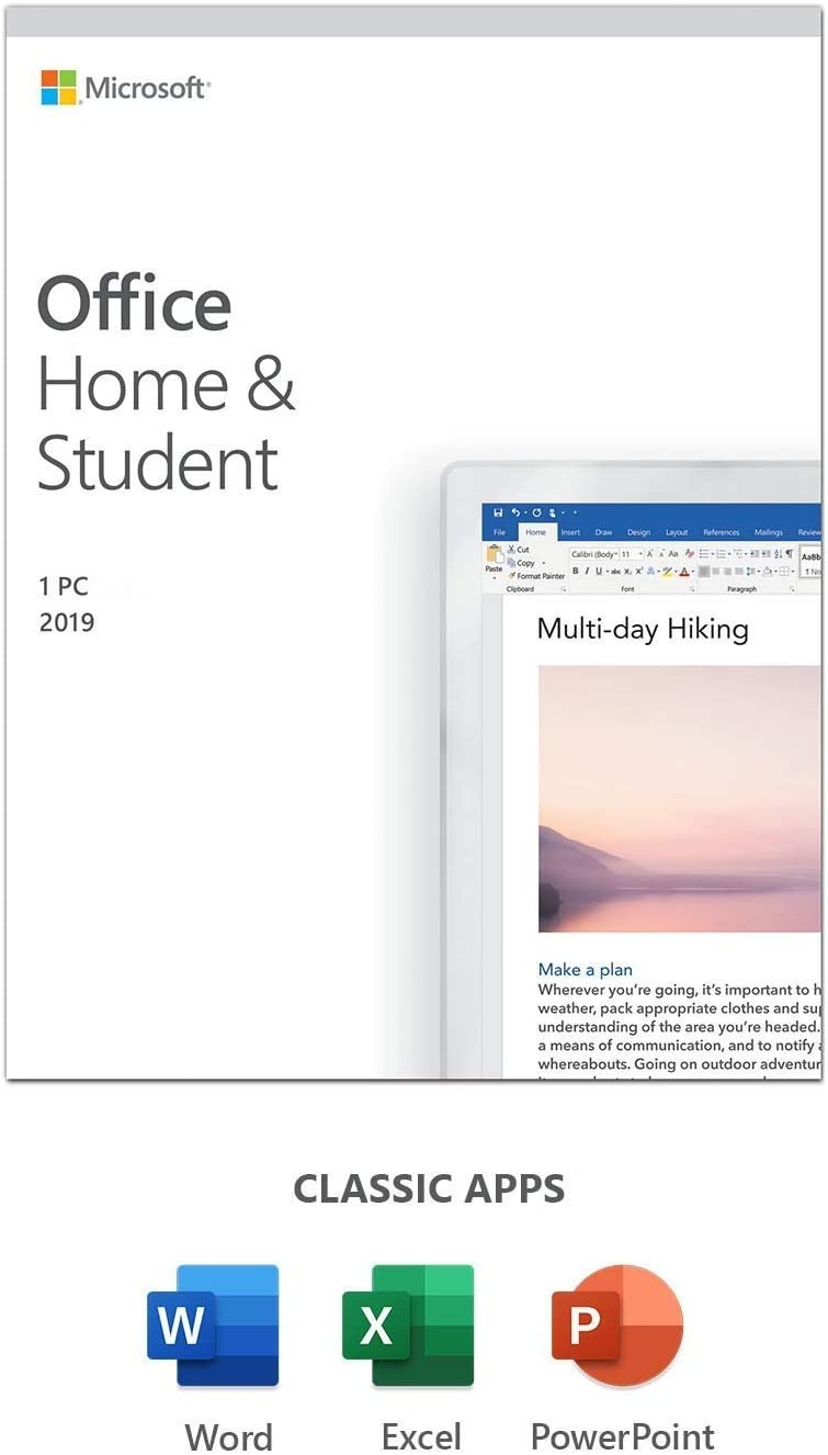 Office 2019 Home and Student Only PC (Windows)