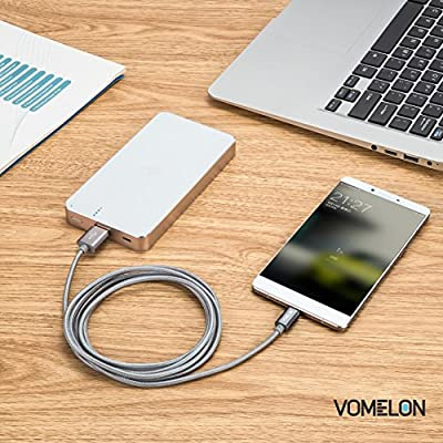Vomelon Apple Lightning to USB Sync & Charging Cable Super Speed Extra Long Nylon Braided USB Cable for iPhone 6, 6 Plus, iPod Touch 5/6, iPad Air and More Apple devices