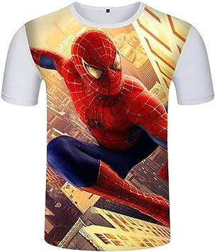 T Shirt pour Hommes, Impression en 3D Spider Man Manche