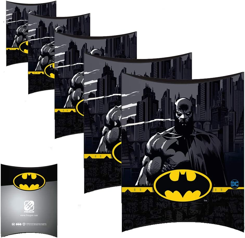 Paquete de 5 cajas de regalo para fiestas y cumpleaños, color Batman 80s 8.66x7.67x1.57 INCHES: Amazon.es: Oficina y papelería