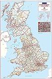 Postcode Area Map 1 - UK - Colour - Standard Matt Paper