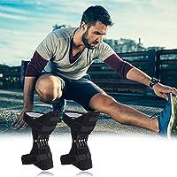 Makaor_Home - Rodillera para hombre y mujer, transpirable, ajustable, para levantamiento de potencia, rodilleras de apoyo con fuerza de resorte de rebote potente, rodilleras de apoyo para desgarros de menisco, lesiones ACL, MCL, deportes