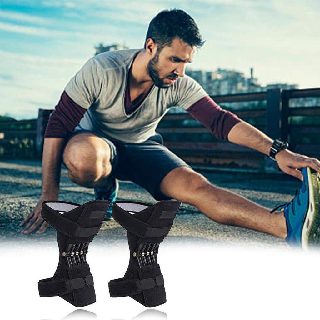 Lljin 膝関節サポート、パワーレッグ膝パッドブレースパワフルリバウンドスプリングフォース