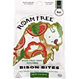 Roam Free 100% Grass Fed Bison Jerky Bites, Always Sugar-Free and Made with Organic Spices, 24-Grams of Protein great for Paleo, Keto, or High Protein Diet, Wood Fired Pizza, 1-Pack