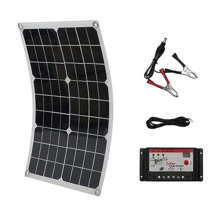Amazon.com: LOOkME-H Panel solar flexible 20/50 W flexible + ...