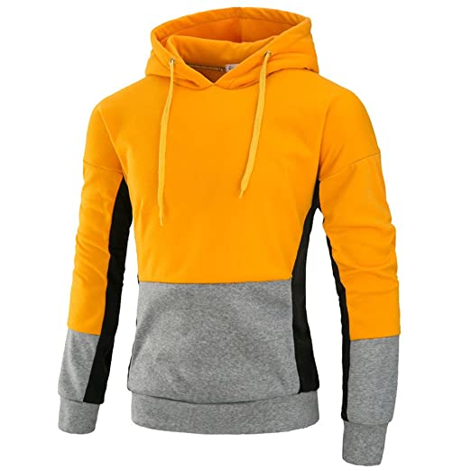 Bleuzee Winter Hoodies Sweatshirt Hip Hop Mens Patchwork Hoody Sweatshirt Brand Pullover Sudaderas Hombre at Amazon Mens Clothing store:
