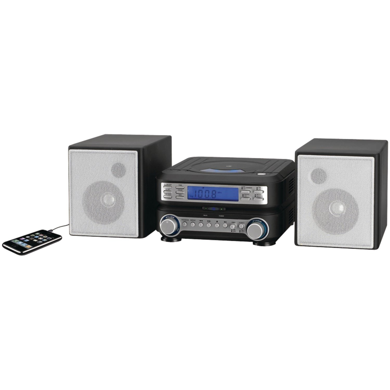 GPX HC221B Compact CD Player Stereo Home Music System with AM/ FM Tuner by GPX