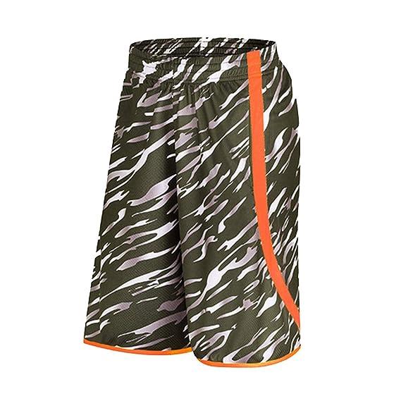 Hombre Baloncesto Camuflaje Pantalones Cortos Deportes Casual ...