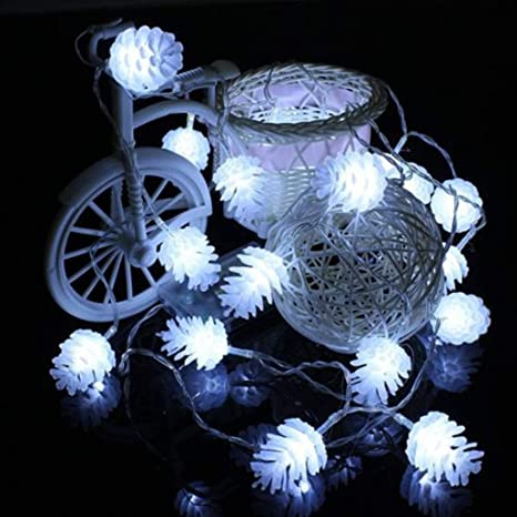 aobriton 10 foot 20 led string fairy light christmas tree led lights outdoor garland home party