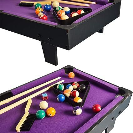 Mini mesa de billar, mesa de billar Safe Home Kit y Accesorios Mesa de billar Cue y la cremallera de la diversión del juego portátil Familia for interiores y exteriores for niños