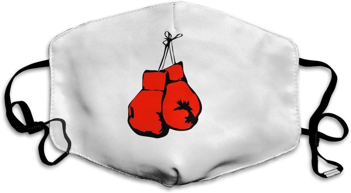 Máscara bucal Guantes de Boxeo Rojos Máscara Antipolvo Impresa para el Polvo Máscara bucal Máscara Antipolvo para Mujeres y Hombres