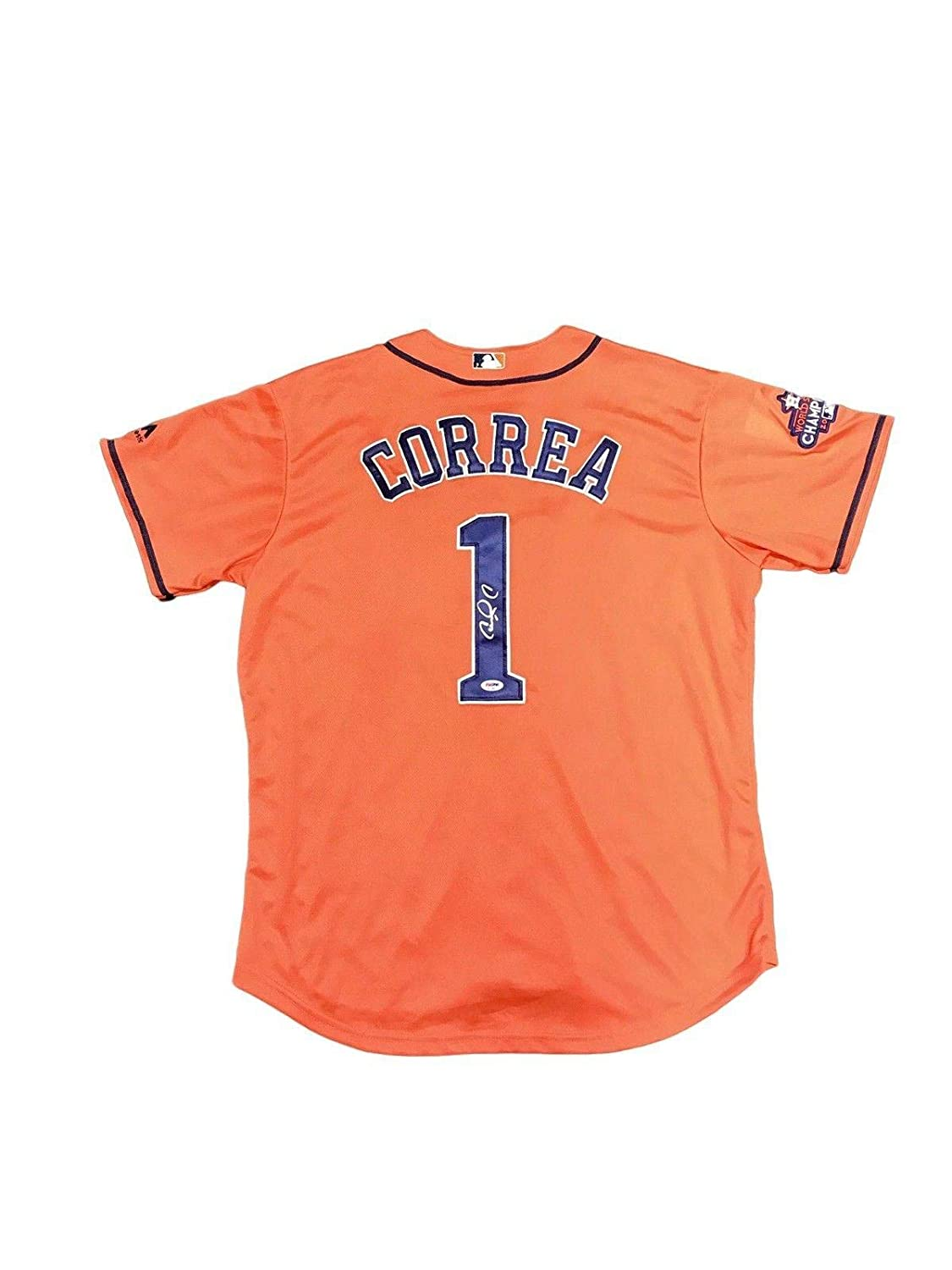 detailed look 34311 cc18d Autographed Carlos Correa Jersey - Away Orange - PSA/DNA ...